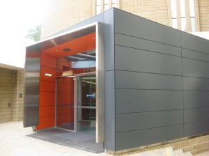 Fiber cement panels with panel clips